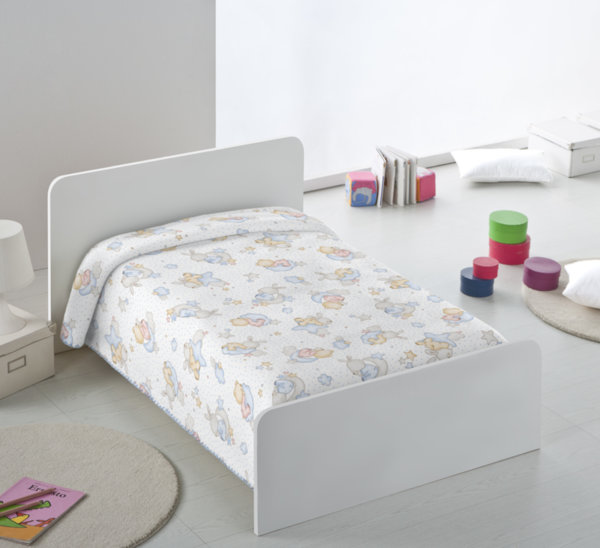 Бебешко одеяло 80/110 щампа екрю /син
